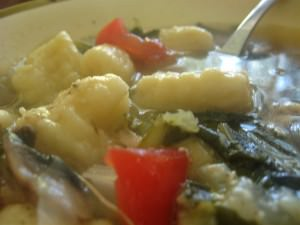 Chard Soup with Gnocchi