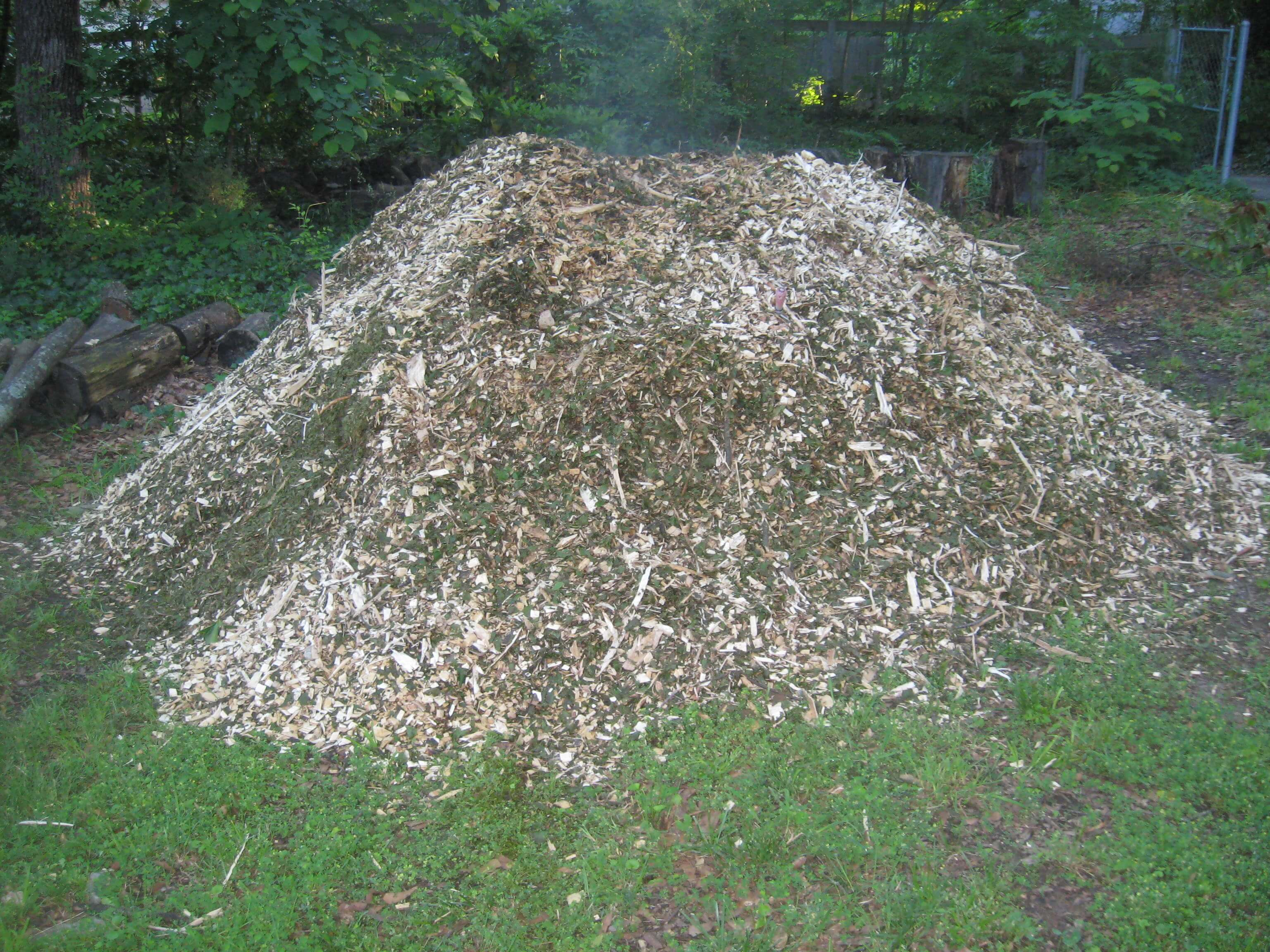 Wood chippings Compost mulch