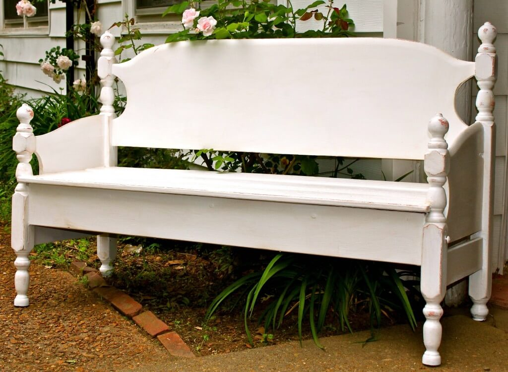 Bench By Bed: Build A Garden Bench From A Bed
