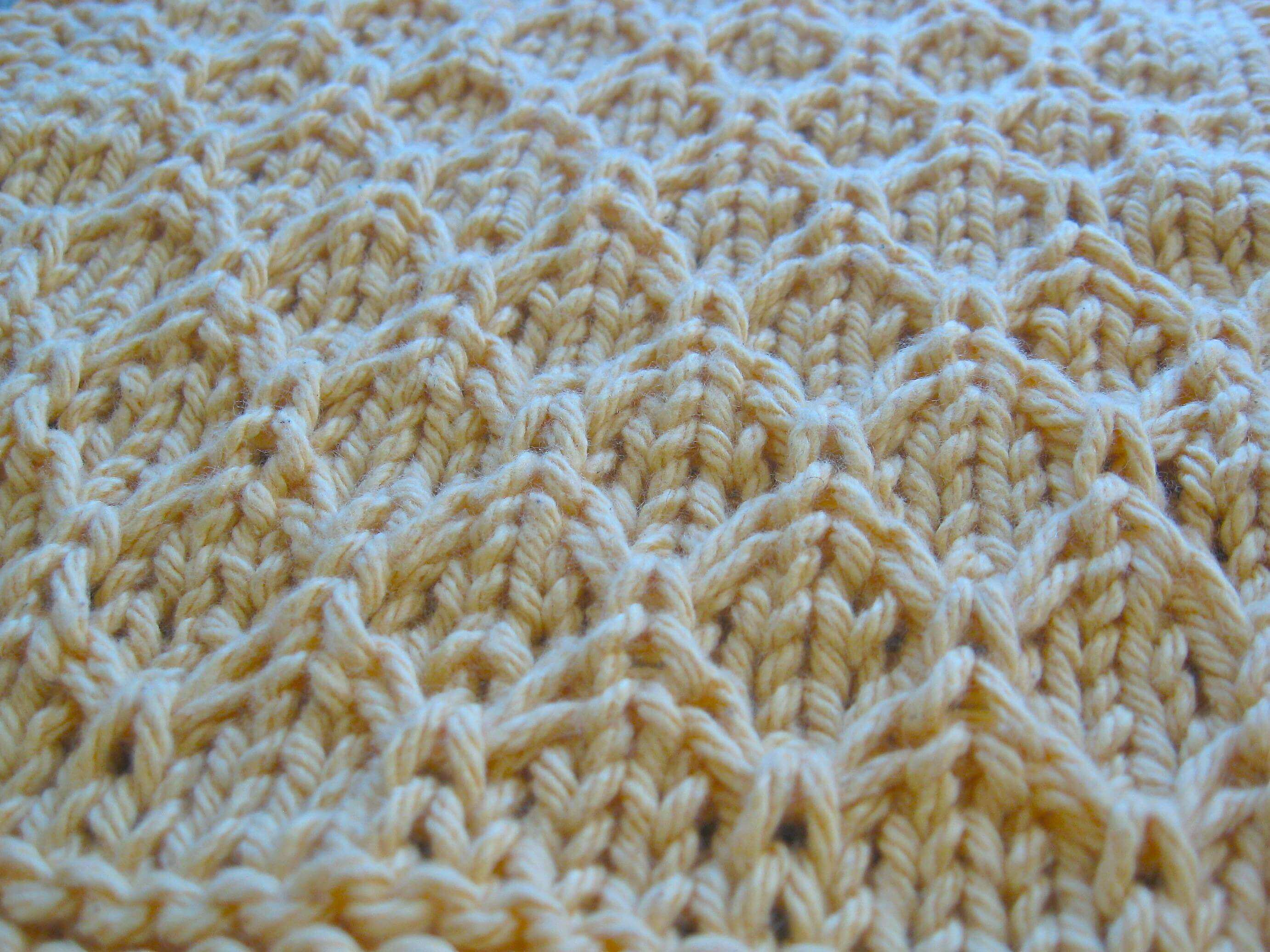 Honeycomb Knitting Pattern : Knitted Honeycomb Dishcloth #1