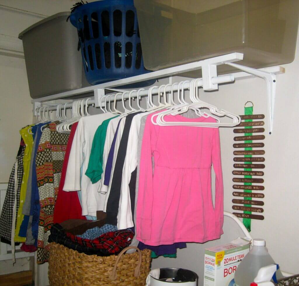 wall mounted clothes rack. Black Bedroom Furniture Sets. Home Design Ideas