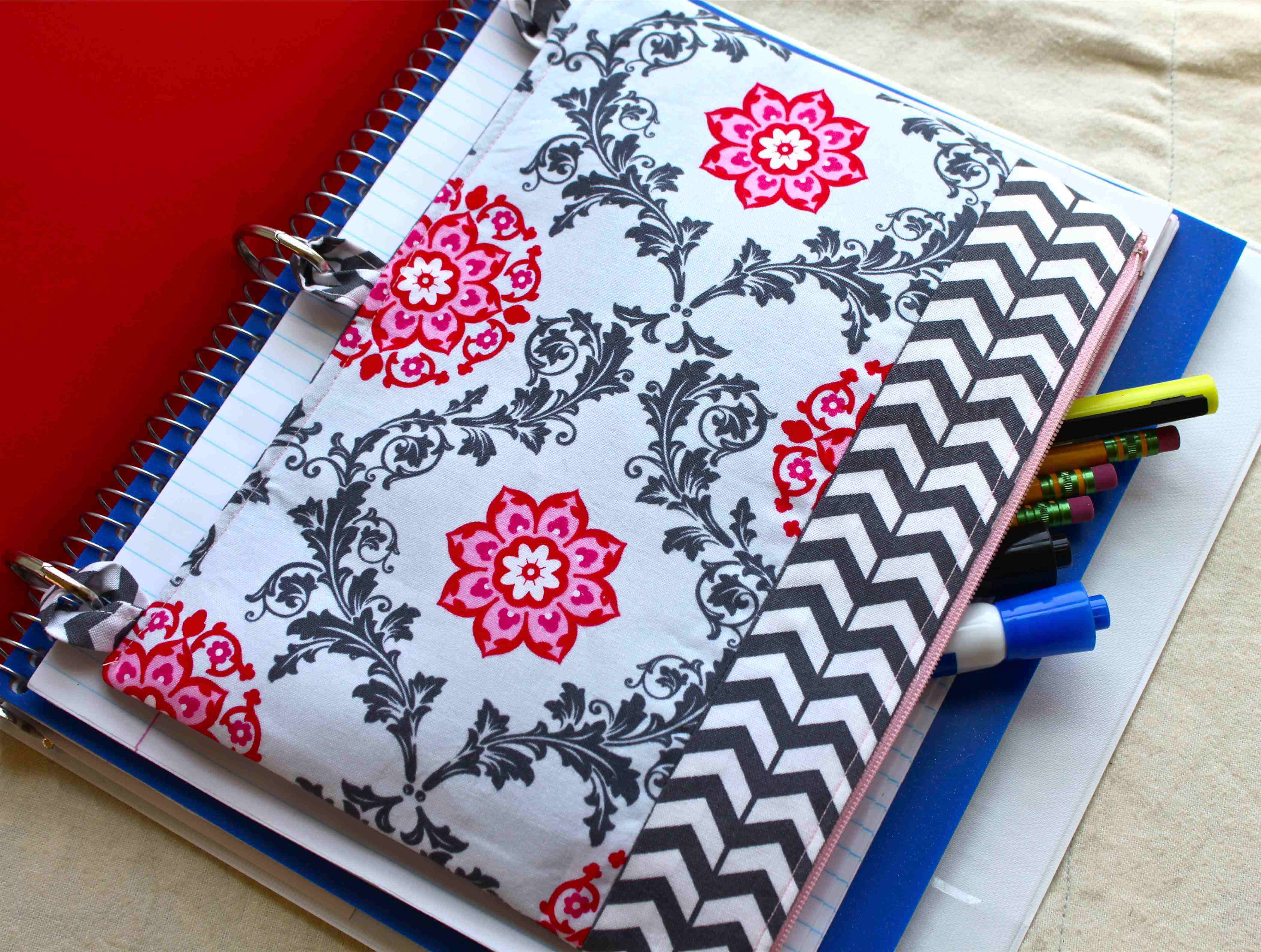 Sew A Pencil Case For 3 Ring Binder
